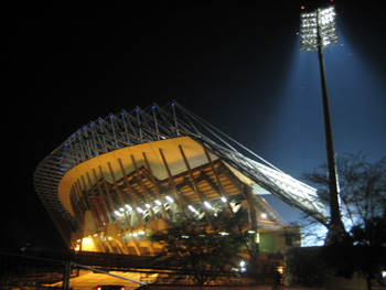 Tribüne im Royal Bafokeng Stadium in Rustenburg