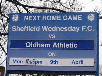 Sheffield Wednesday - Oldham Athletic April 2012